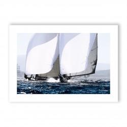 Affiche A3 papier 350g Visuel N°1 Voiles de Saint-Tropez