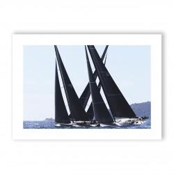 Affiche A3 papier 350g Visuel N°5 Voiles de Saint-Tropez