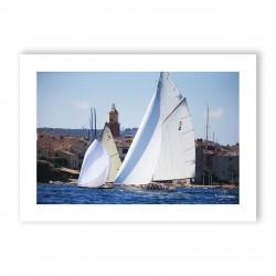 Affiche A3 papier 350g Visuel N°6 Voiles de Saint-Tropez